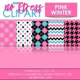 Pink Winter Digital Papers