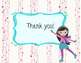 Pink Winter Figure Skating Thank You Cards