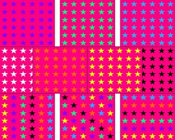 Pink With Colorful Stars Backgrounds