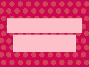 Pink With Pink Dots PowerPoint Template