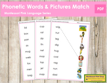Pink: Phonetic Word and Picture Match