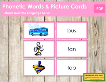 Pink: Words and Picture Cards