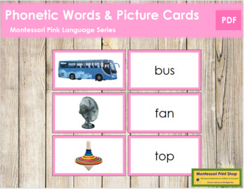 Pink: Words and Picture Cards (real pictures)