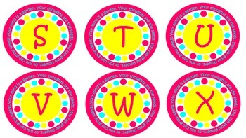 Pink Yellow Teal Your Mind is a Garden Word Wall Letters