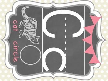 Pink and Beige Polka Dot Alphabet Set