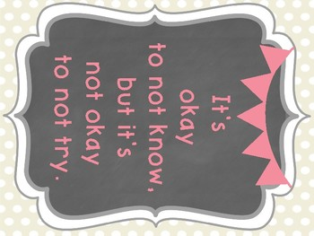 Pink and Beige Polka Dot Classroom Posters
