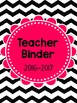 Pink and Black Chevron Teacher Binder (UPDATED and EDITABLE)