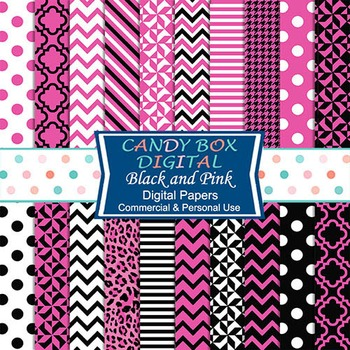 Pink and Black Digital Background Papers