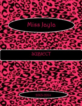 Pink and Black Leopard Binder Cover