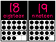 Pink and Black Number Posters 0-20