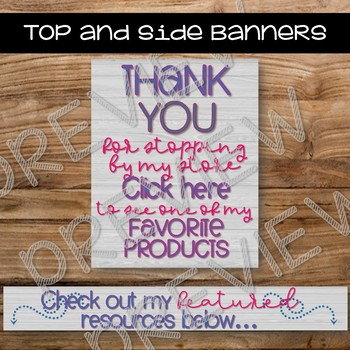 Pink and Blue Banner Package - For TpT Sellers