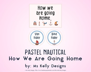 Pink and Blue Pastel Nautical How We Are Going Home System