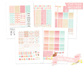 Pink and Green Sewing Printable Planner Weekly kit Stickers fits Erin Condren