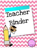 Pink and Blue Teacher Binder