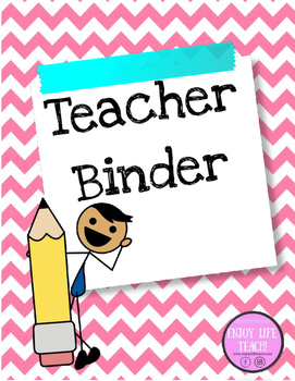 Pink and Blue Teacher Binder