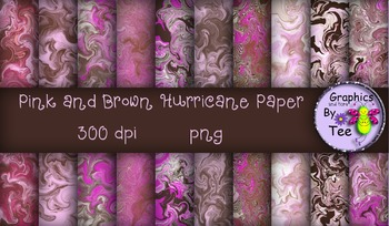 Pink and Brown Hurricane Papers