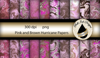 Pink and Brown Hurricane Papers Clipart