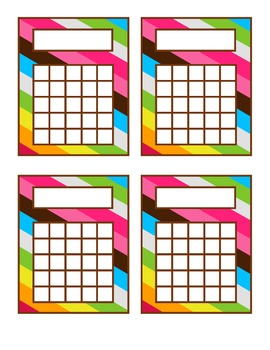 Pink and Brown Striped Incentive Charts