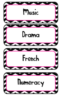 Pink and Chevron Daily Schedule