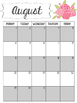 Pink and Floral Calendar 2016-2017