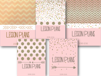 Pink and Gold Editable Binder Pages