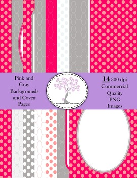 Pink and Gray Backgrounds and Cover Pages