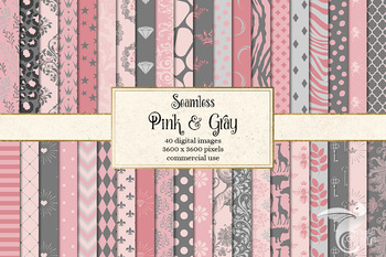 Pink and Gray Digital Paper
