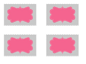 Pink and Gray Editable Labels