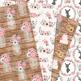 Pink and Gray Rustic Wedding Digital Paper - Pink Grey Wedding Seamless Patterns