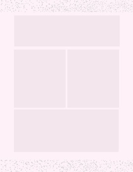 Pink and Gray Sprinkle Newsletter Template