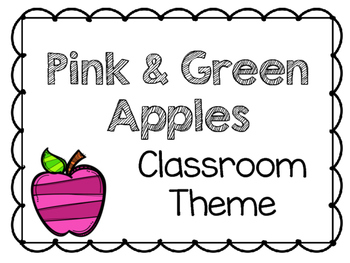 Pink and Green Apple Classroom Theme Pack