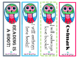 Owl Bookmarks Pink and Green
