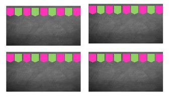 Pink and Green Chalkboard Name Tags