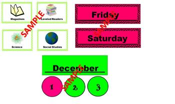Pink and Green Classroom Theme