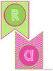 Pink and Green Chevron & Owls Classroom Decor
