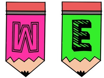 Pink and Green Pencil Welcome Banner