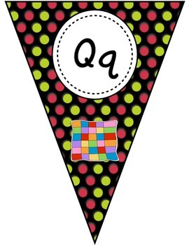 Pink and Green Polka Dot Letter Banner