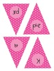 Pink and Green Polka Dot Pennant Set