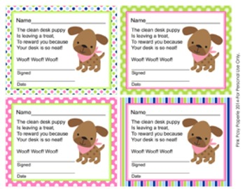Pink and Green Puppy Incentive Rewards Bundle
