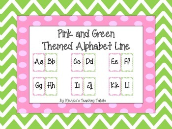 Alphabet Line: Pink and Green Themed