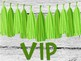 Pink and Green VIP Signs