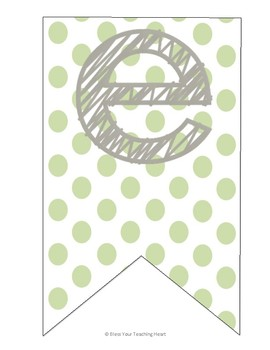 Pink and Green Welcome Banner