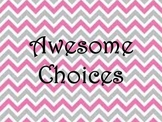 Pink and Grey Chevron Clip Chart