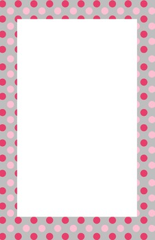 Pink and Grey Polka dot Border