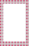 Pink and Grey Polka dot Border