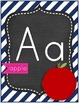 Pink and Navy Alphabet Set &1-20 Number Cards Chevron and Polka Dots