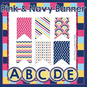 Banner Kit-Pink and Navy