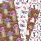 Pink and Navy Rustic Wedding Digital Paper - Navy Wedding Seamless Patterns