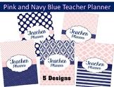 Pink and Navy Teacher Planner 2018-2019