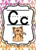 Pink and Orange Geometric Alphabet Posters
